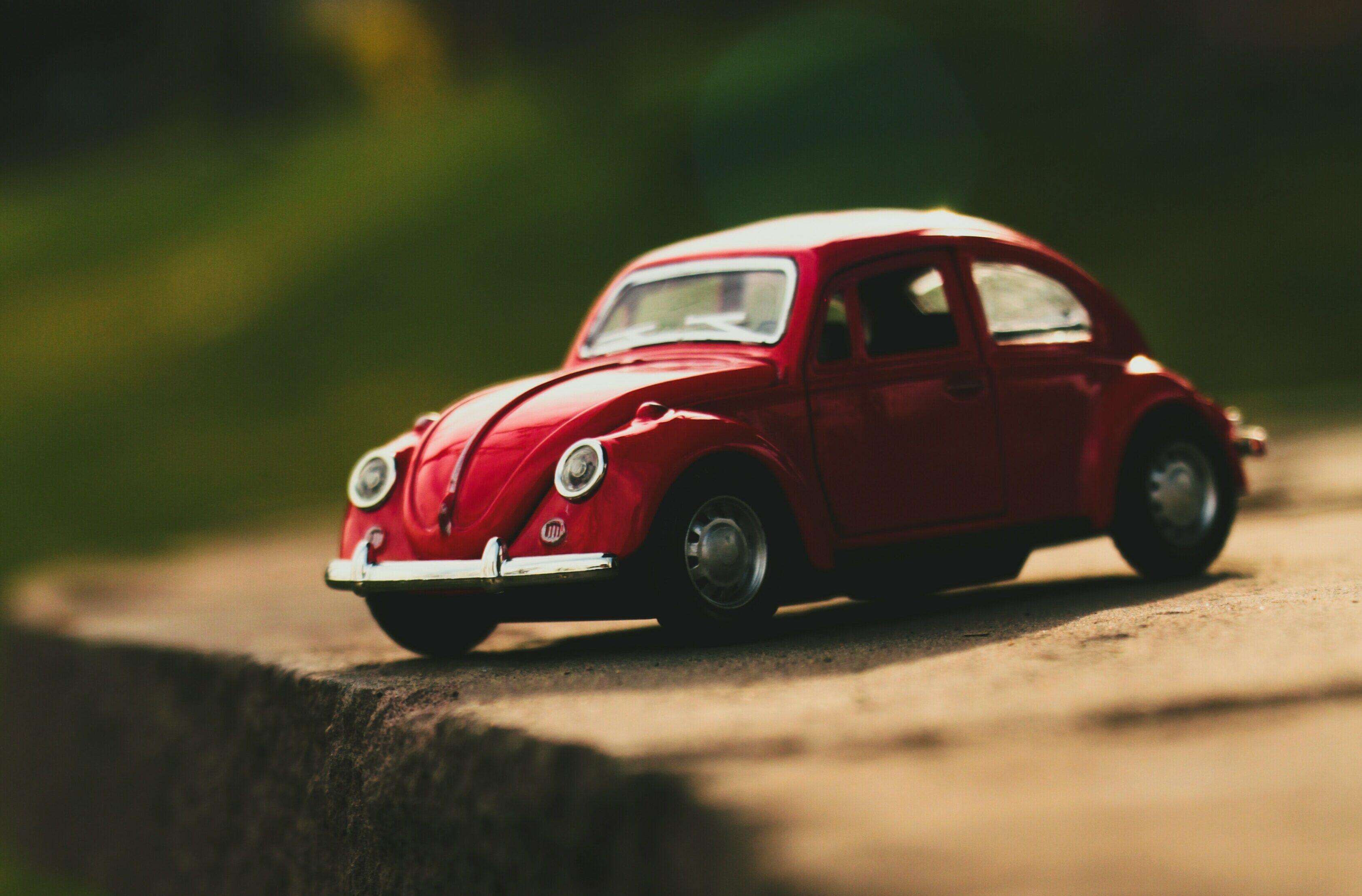 Red VW Beetle Car Model